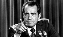 El ex presidente de los Estados Unidos, Richard Nixon