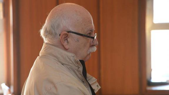 Pedro A.D, este martes, en el juicio.
