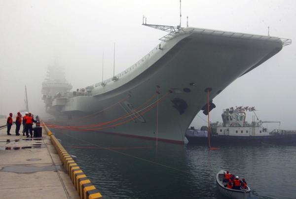 El poderoso buque llega a reforzar la marina china en tiempos de tensiones territoriales en el Mar del Sur de China