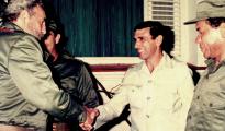Juan Reinaldo Sanchez junto a Fidel Castro