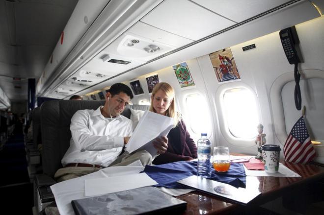 Ryan, con su mujer en Ohio, durante la campaña electoral.