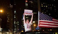 Un simpatizante de Donald Trump, tras su victoria en las presidenciales.