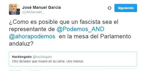 El coodinador local de IU en Sevilla ha cargado contra Yagüe en varias ocasiones