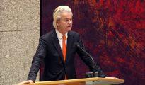 Geert Wilders, en el Parlamento holandés en septiembre de 2015. (Imagen tomada de un vídeo de RTL Nieuws).