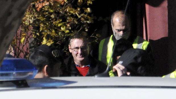 El yihadista Daniel Fernández Aceña, en el momento de su detención