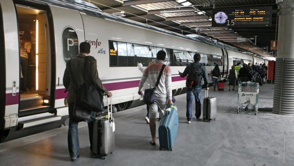 Estación de trenes de Atocha, en Madrid.