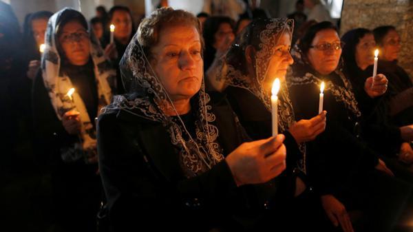 La misa celebrada en la iglesia de Bartala