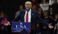 Donald Trump, en el acto del jueves en Cincinnati, Ohio