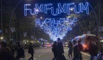 Iluminación navideña en el centro de Barcelona
