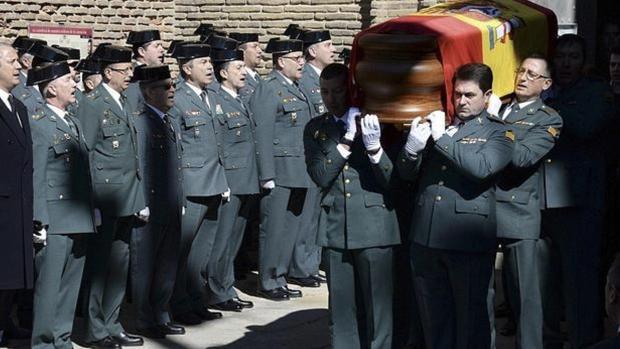 Imagen del funeral por el agente fallecido en Barbastro el pasado 4 de marzo