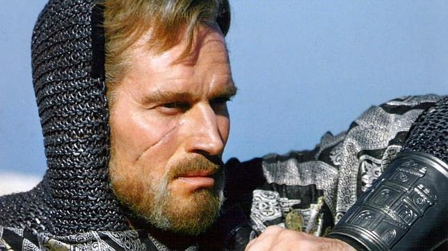 Charlton Heston, en su legendario papel de Rodrigo, El Cid.