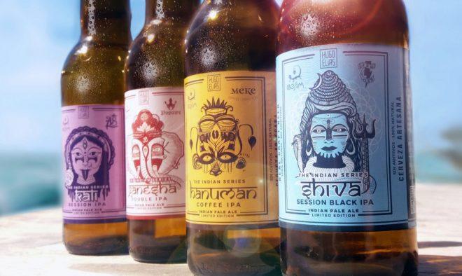 Las deidades hindúes utilizadas por la cervecera ibicenca.