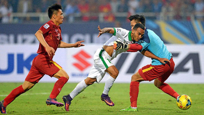 Imagen de un partido entre Indonesia y Vietnam.