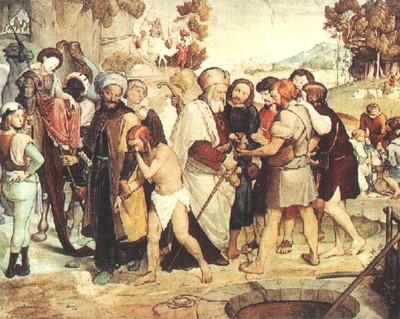 José vendido por sus hermanos, por Frederick J. Overbeck.