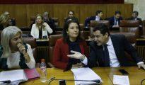 Juanma Moreno, Patricia del Pozo y Carmen Crespo