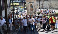 Católicos en Lourdes.