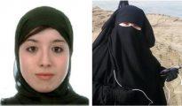 Fotografías facilitadas por el ministerio de Interior de las dos españolas detenidas hoy en la frontera turco-siria en una operación de la Guardia Civil, Asia Ahmed Mohamed (i) y Fátima Akil Laghmich -