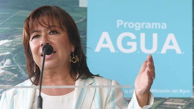 La exministra Cristina Narbona, en la presentación del programa Agua