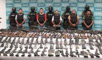 Presentación ante la prensa de la detención de cabecillas de Los Zetas, el 9 de junio de 2011. Uno de los tantos operativos espectaculares