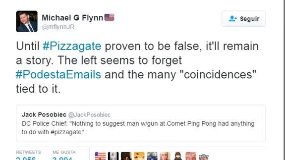 Perfil en Twitter de Michel G. Flynn.