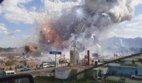 Captura de pantalla de un vídeo grabado tras la explosión