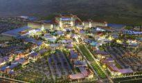 """Recreación de cómo será el """"megacomplejo"""" de 134 hectáreas de ocio en Torres de la Alameda"""