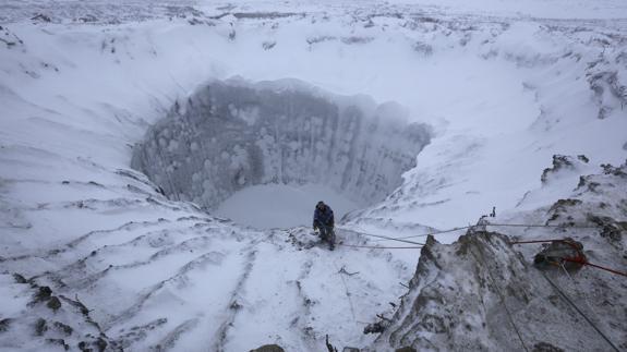 Paisaje de Siberia.