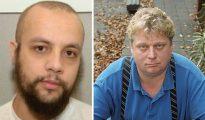 """Los terroristas parecen ser modelos de integración exitosa. Mohamed Buyeri (izquierda), el terrorista marroquí-holandés que disparó letalmente, apuñaló y degolló al cineasta Theo van Gogh (derecha) en 2004, era """"un muchacho bien educado con buenas perspectivas"""", dijo Job Cohen, el alcalde de Ámsterdam."""