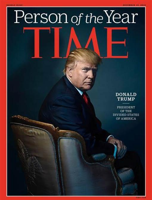 La portada de la revista «Time», con Donald Trump como persona del año- TIME
