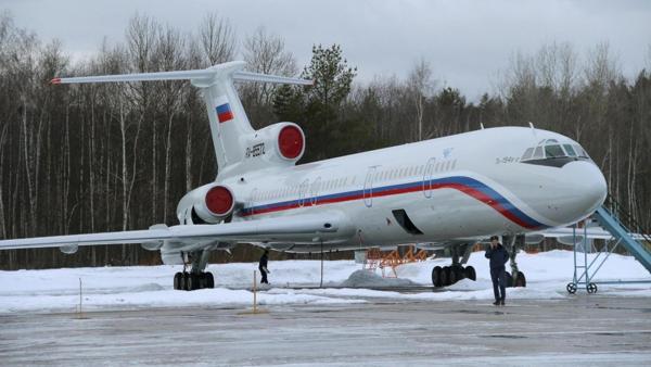 Foto de archivo de un Tupolev Tu-154