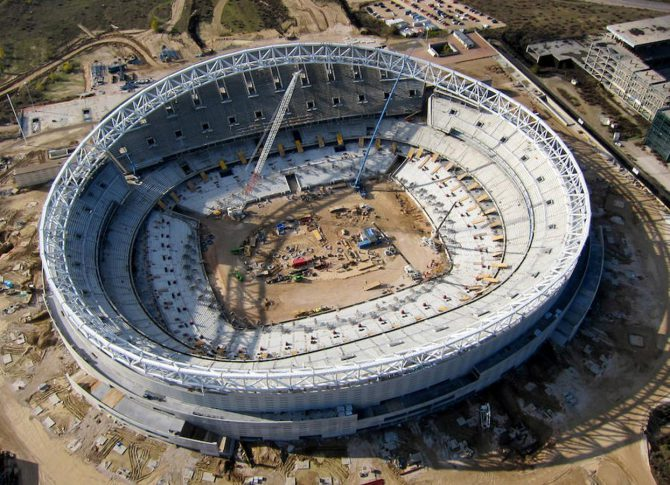 Las obras del nuevo estadio atlétivo avanzan a buen ritmo.