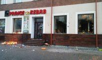 El kebab atacado tras el asesinato de un joven polaco.