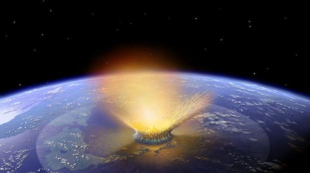 Recreación de un gran impacto contra la Tierra. Una roca de al menos un kilómetro de longitud podría acabar con la civilización humana