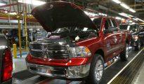 Una camioneta Ram 1500 en la planta de Fiat-Chrysler ubicada en Warren, Michigan