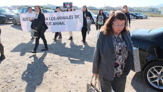 Carmen Marín, a su entrada a los juzgados de Málaga.