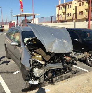 El coche del kamikaze.