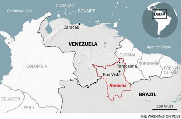 Los venezolanos cruzan a Roraima, en el norte brasileño