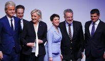 Líderes de la derecha alternativa europea en la cumbre de Coblenza, Alemania
