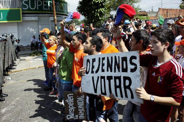 Los venezolanos reclaman votar