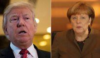 Donald Trump y Angela Merkel.
