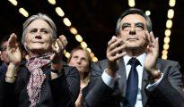 Francois Fillon y su esposa, Penelope Fillon