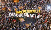 Manifestación contra una resolución del Supremo en Barcelona en octubre de 2015.