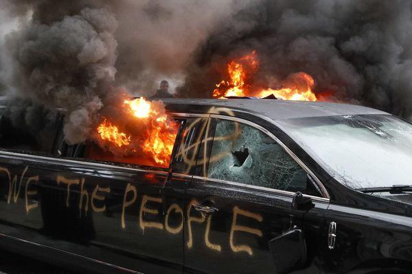Disturbios en Washington tras la toma de posesión de Donald Trump.