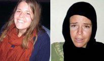 Kayla Mueller era una joven cristiana estadounidense de 26 años que se desempeñaba como trabajadora humanitaria en Siria. El Estado Islámico la secuestró, la violó y torturó repetidas veces y posteriormente comunicó que había fallecido durante un bombardeo jordano. Arriba, Mueller antes y después de su cautiverio, en unas imágenes tomadas de un vídeo propagandístico del ISIS.