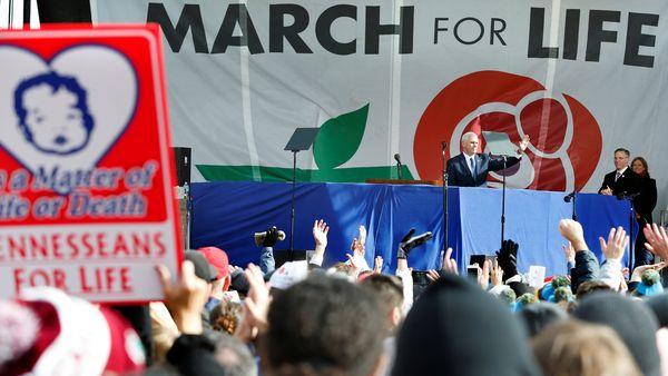 Mike Pence habló ante una multitud en Washington