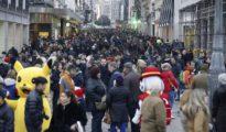 La Calle Preciados de Madrid llena de gente estas navidades.