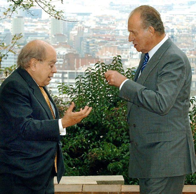 Pujol y el Rey Juan Carlos.