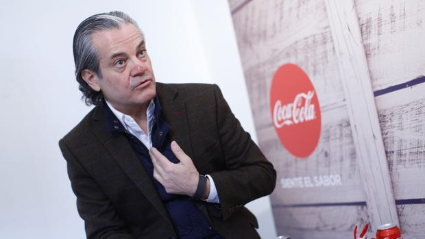 Marcos de Quinto, vicepresidente de Coca-Cola, durante una entrevista