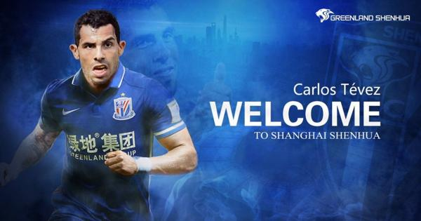 Carlos Tévez, la nueva estrella del fútbol chino