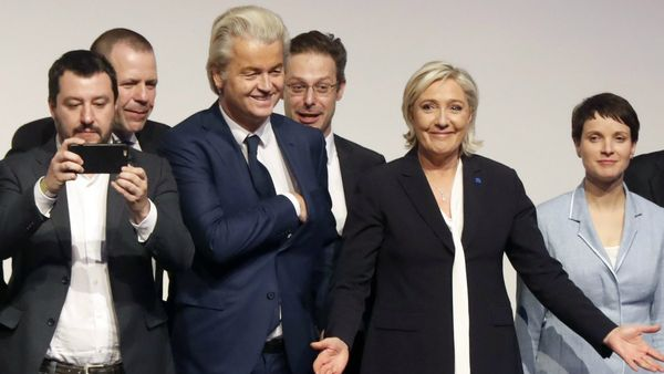 Líderes de los distintos movimientos políticos de la derecha identitaria europea.